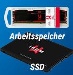 IRDM X DDR4 32GB Kit IR-X3000D464L16/32GDC und SSD IRDM Pro gen.2 SATA III 2,5″ 1TB