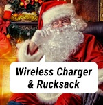 10W Wireless Charger / Qi Charger und Rucksack!