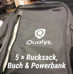 5x Rucksack, Buch & Powerbank!