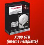 X300 6TB (interne Festplatte)!