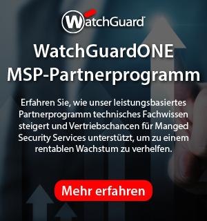 Das WatchGuardONE-Vertriebspartnerprogramm