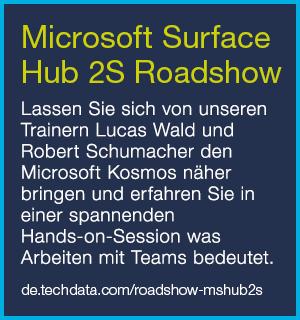 Zur Microsoft Surface Hub 2S Roadshow